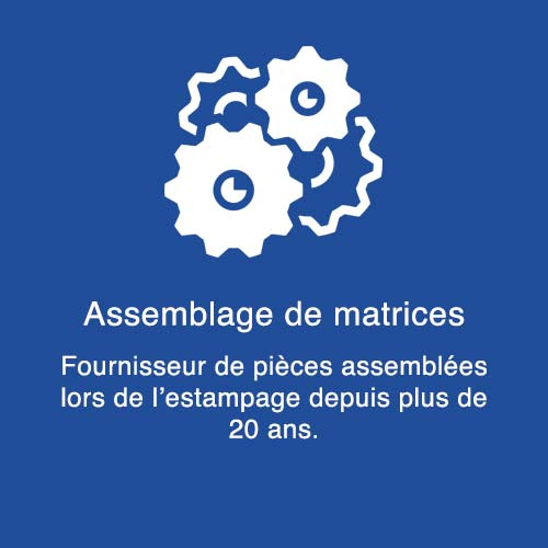 Métaux satellite fabrication de matrices
